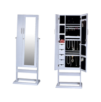 Standing Mirror Jewelry Cabinet Living Room Cabinets