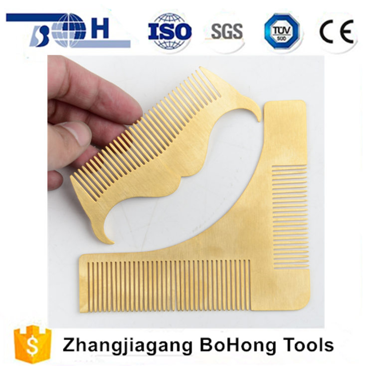 Good quality factory supplier gold stainless steel beard comb set