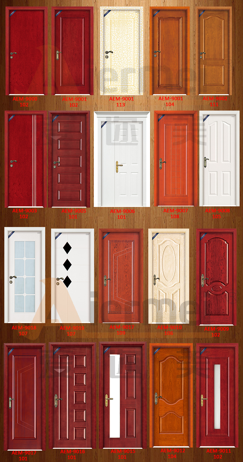 Custom made single swing door design modern wood front for Indian main double door designs