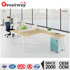 QE-40B-2L modern office fashion executive desk for two person in L shape workstation desk
