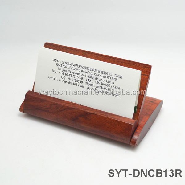 Unique Quality Desk Wooden Business Card Holder Buy Wooden