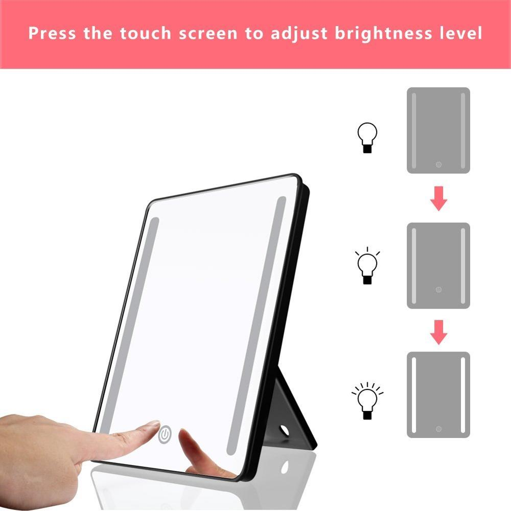 36 LED Lighted Makeup Mirror with Lights 10X Magnifying LED Vanity Mirror 180 Degree Rotation Travel Mirror