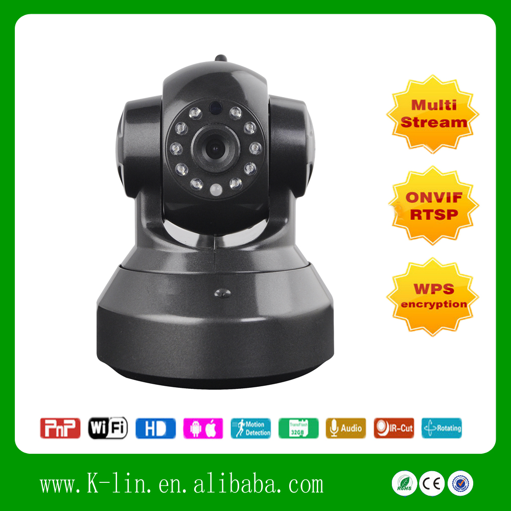 720P VGS QVGA Triple Stream ONVIF Tow way Audio Support SD Storage Card Home Security PT WIFI IP Camera