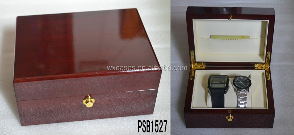 Spot goods--big sizes wooden watch box for lovers watch hot sell