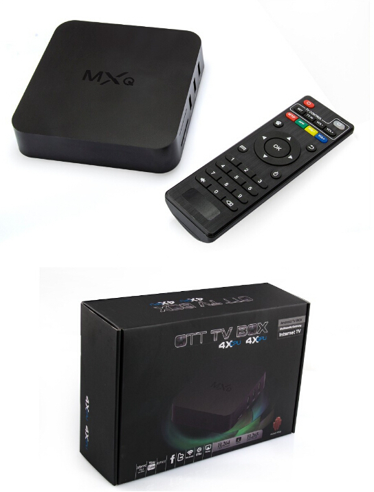 2015 New MXQ TV BOX Amlogic S805 Quad Core Android 4.4 TV box Kitkat 1GB/8GB KODI Load WIFI Airplay Miracast in stock
