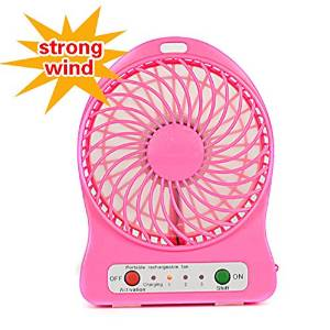 New High quantity Outdoor Protable Mini Cooling Rechargeable USB Desk Portable Pocket Mini Fan Handheld Travel Blower Air Cooler pink color