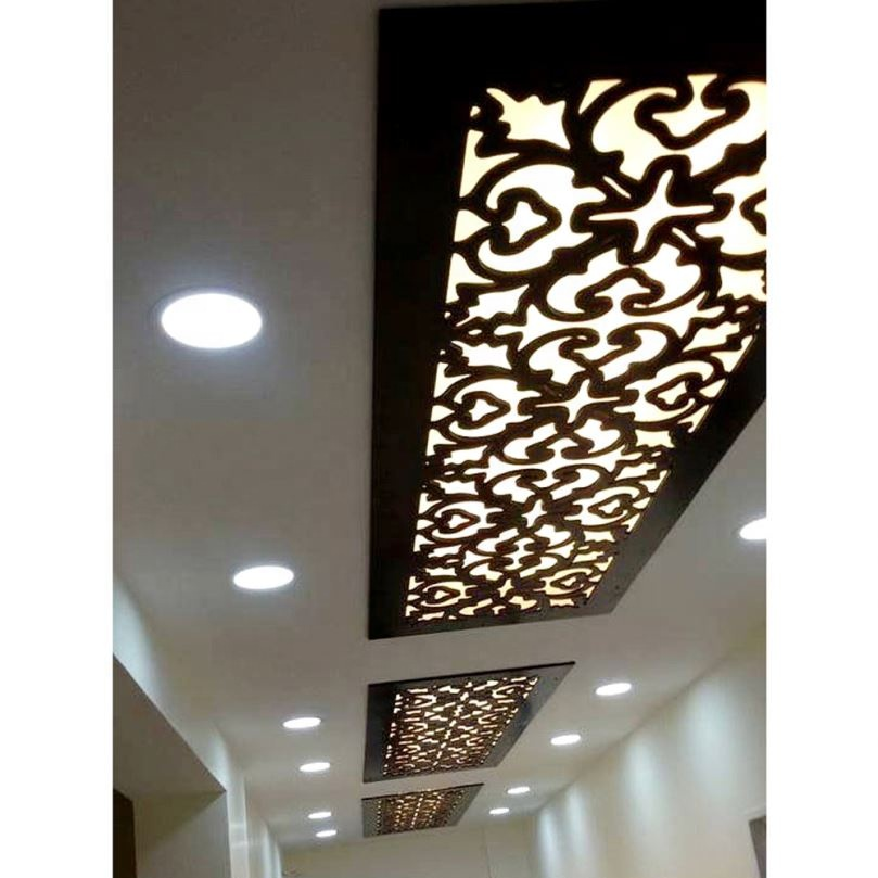 New Popular stainless steel custom decorative 3d hotel reflective ceiling.