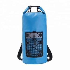 5L 10L 15L Roll Top Pvc Dry Bag Waterproof Backpack For Hiking Camping Drifting