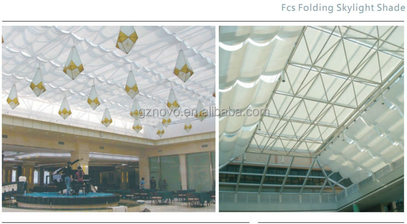 2014 Fantastic Smart Roof Skylight Indoor Door Roller Blinds Electric Motorized Skylight