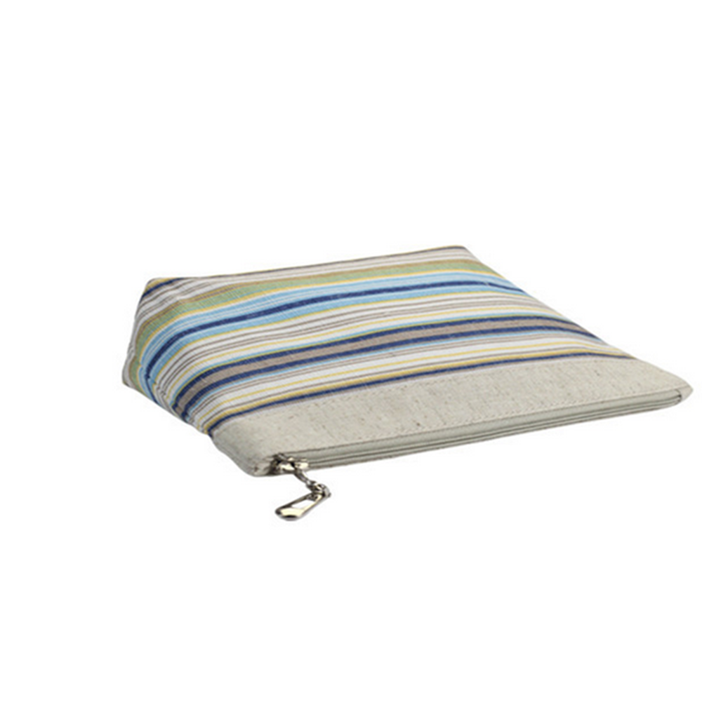 canvas printing stripe cosmetic bags for Women