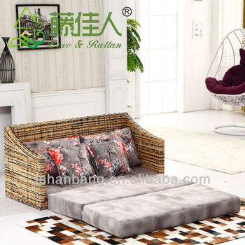 Woven Indoor Seagrass Sofa Bed Set