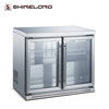 R185 Guangzhou Mini Single Clear Glass Door Beer Refrigerator