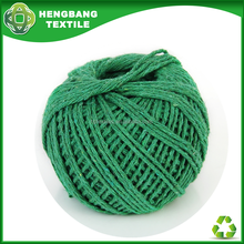 Yarn price list for twisted 8ply green colour cotton twine ball HB671 China