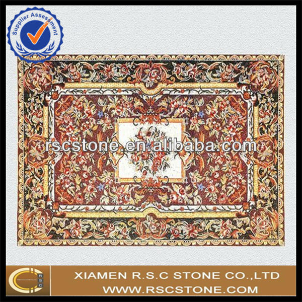3d floor decoration marble mosaic art patern