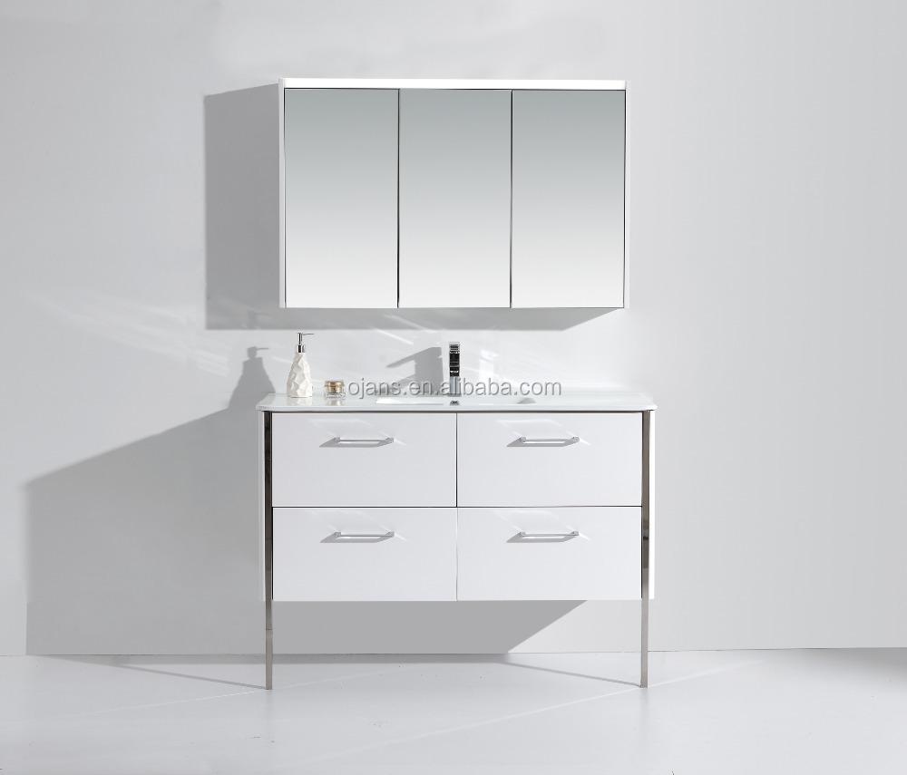 47 Inch Bathroom Vanity With Legsmirror Cabinet With Three Doors