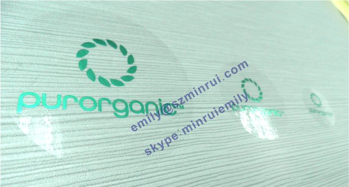 Custom Round transparent labels with foil stamping,clear stickers embossed  with glossy foil,Stamped