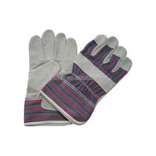 Brand MHR double palm leather work glove pvc dot cotton safety glove short leather driving gloves
