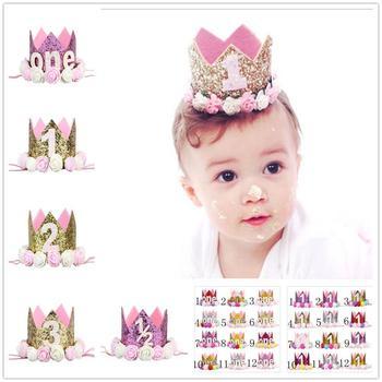 Glitter Baby Boy First Birthday Crown the little prince Princess Photo Prop  Baby Tiara Headbands Toddler 0d1334812fb
