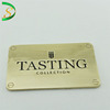 Top quality Custom metal plate logo designs tags for clothes