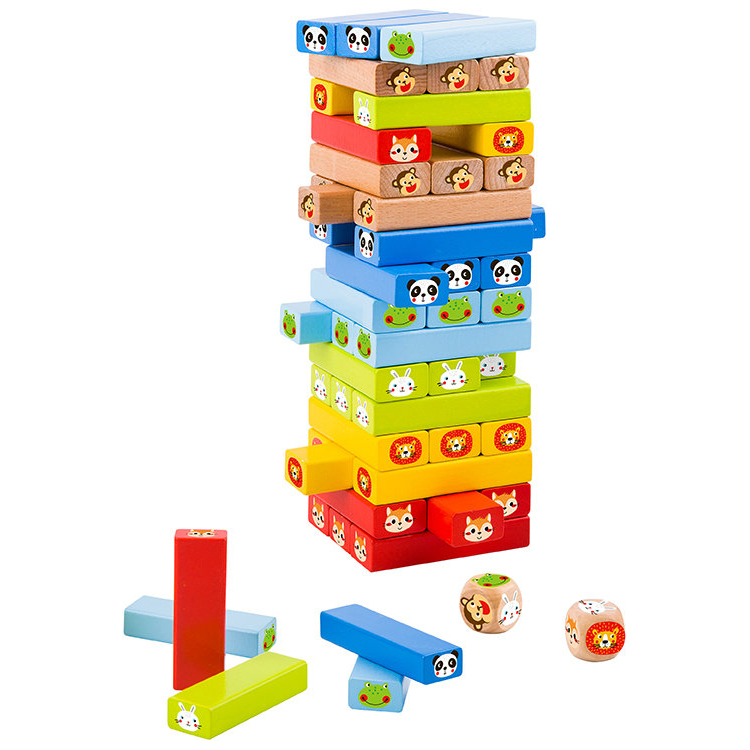 New Design Wooden Stacking Game Animal Toys For Kids