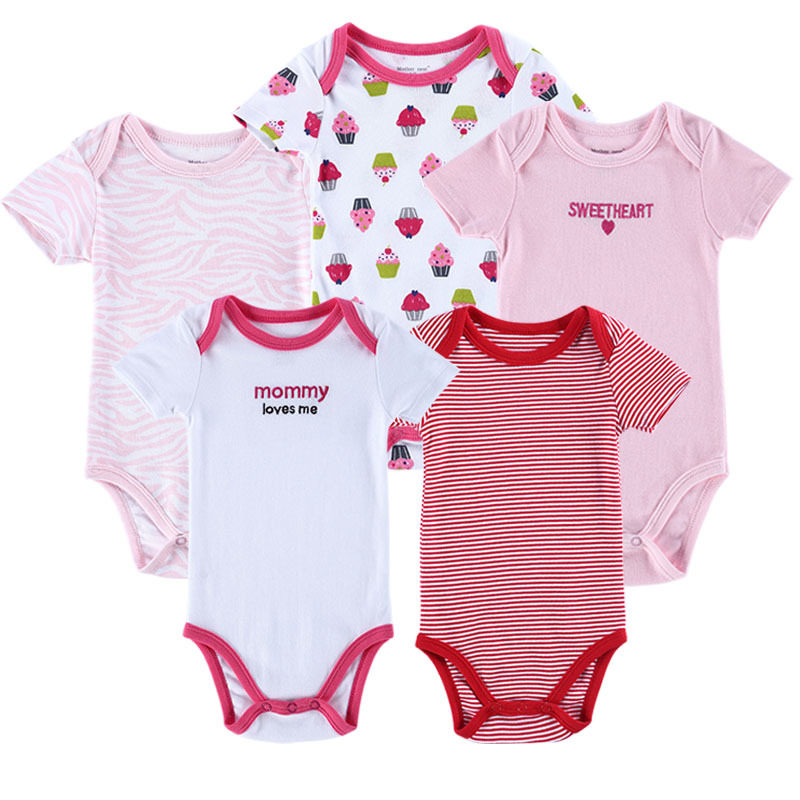 f9cda54937 Get Quotations · 5 pcs lot Baby Bodysuit