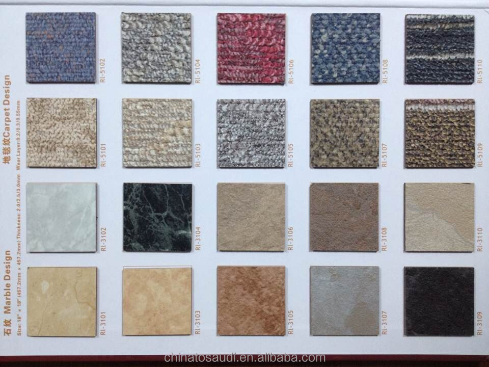 Anti Static Pvc Vinyl Tiles Pvc Sheet Flooring With 3d