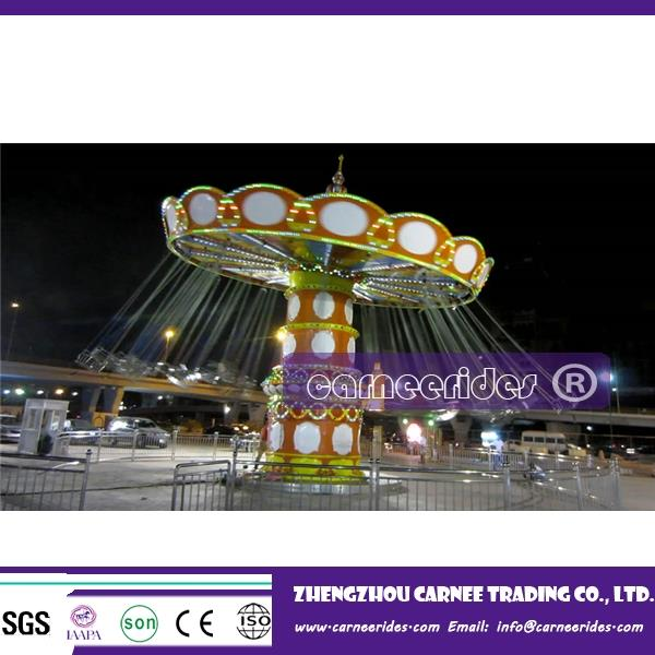 Exported to Libya park amusement rides swing carousel 36seats shaking-head flying chair
