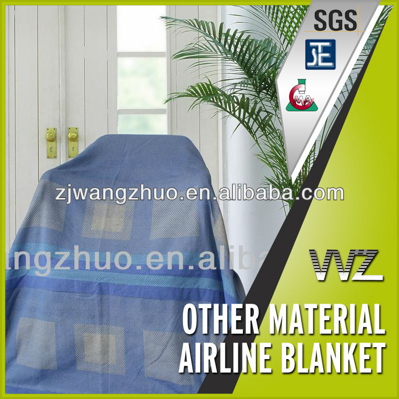 Twill Woven Airline Polyester Blankets Inflight Blanket Airplane blanket