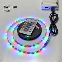 Free sample 100cm DC 5V 5050 USB Powered Strip Light Led TV Backlight Multi Color Changing Kit With the 24Key Remote