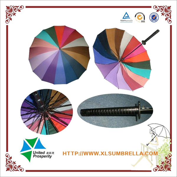 Direct factory promotion Japanese samurai sword umbrella