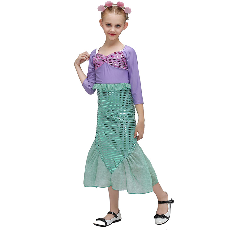 Goedkoopste Kleine zeemeermin kostuum voor kids Ariel Prinses Kinderen Halloween Kostuum
