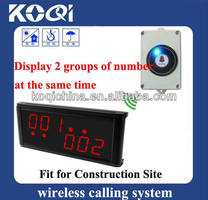 Elevator pager bell system show 2 groups of number at the same time