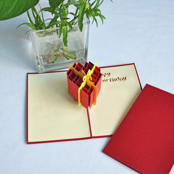 Meilun Art Craft 3d Happy Birthday Greeting Pop Up Card