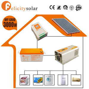 Felicitysolar complete set 3kw off grid hybrid solar wind power system for Israel