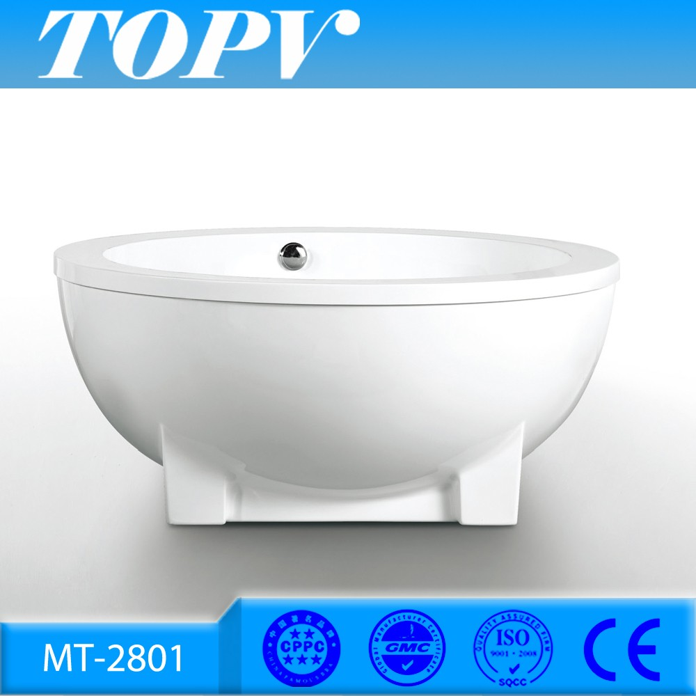 MT-2801 New arrival round freestanding soaking 4 dutch tub