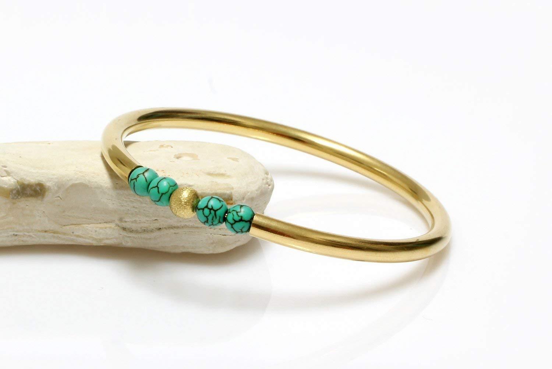 beaded bracelet,gold bracelet,14k gold bangle,vintage bracelet,turquoise bracelet,tube bracelet,wedding bracelet