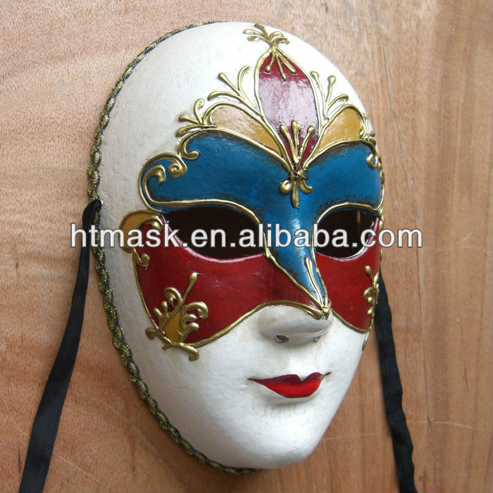 Hand Painting Mask Full Face Mask Paper Halloween Party Mask Buy