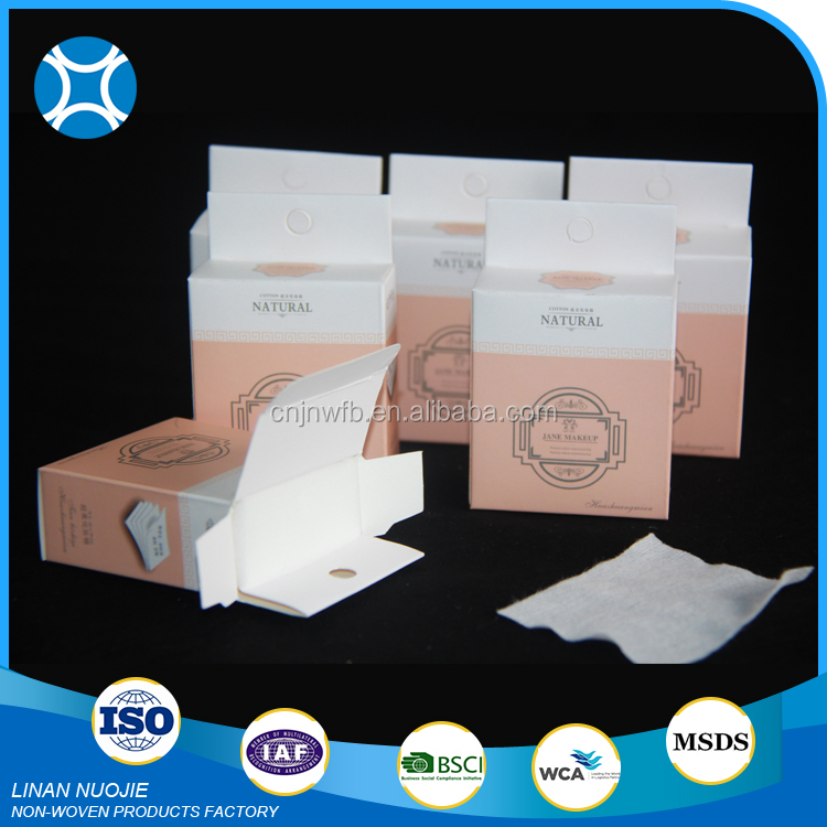 China Manufacturer Cheap non-woven cosmetic cotton pads manufacturers