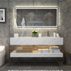 Luxury design chinese wall hung bathroom wall Artificial marble mounted cabinet vanity bathroom modern