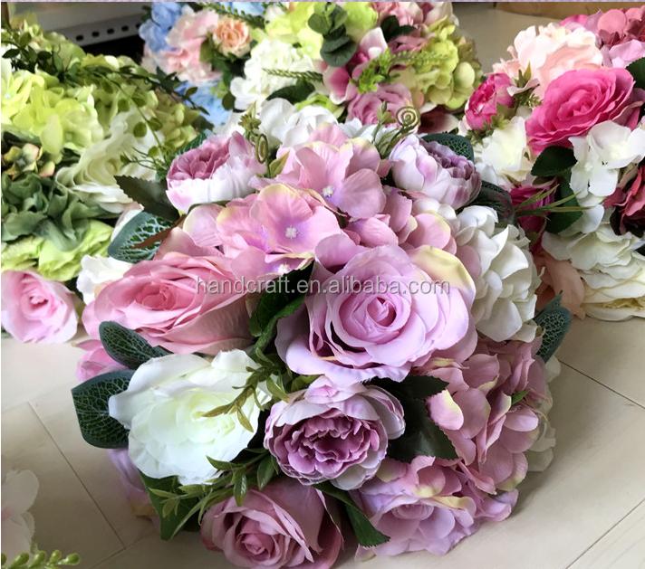Light Pinkpurple Wedding Pastic Artificial Flower Arrangements In