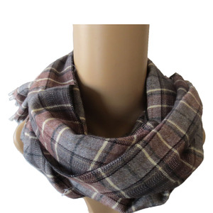 autumn and winter warm 100% cotton men napped scarf