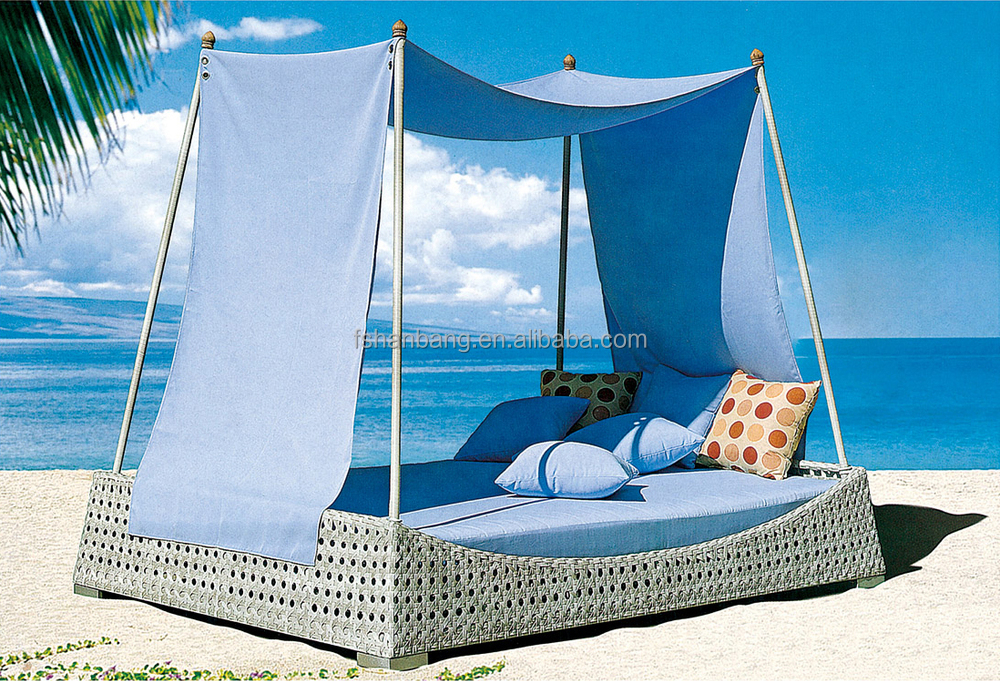 Taiji Outdoor Deck Sunroom PE Resin Wicker Patio Daybed Furniture