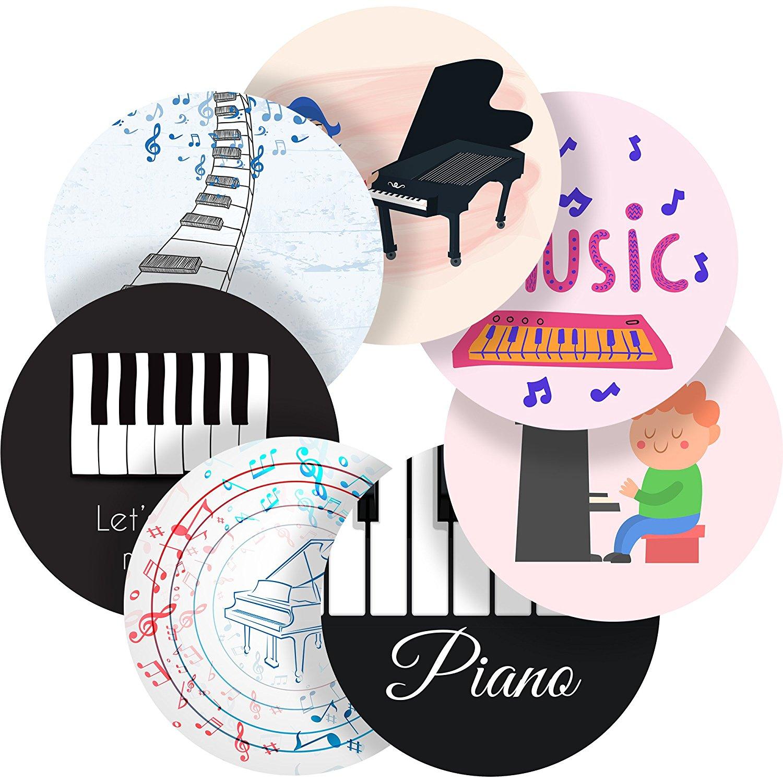 "Piano Sounds Reward Sticker Labels, 70 Stickers @ 1"" inch, Glossy Photo Quality, Ideal for Children Parents Teachers Schools Doctors Nurses Opticians"