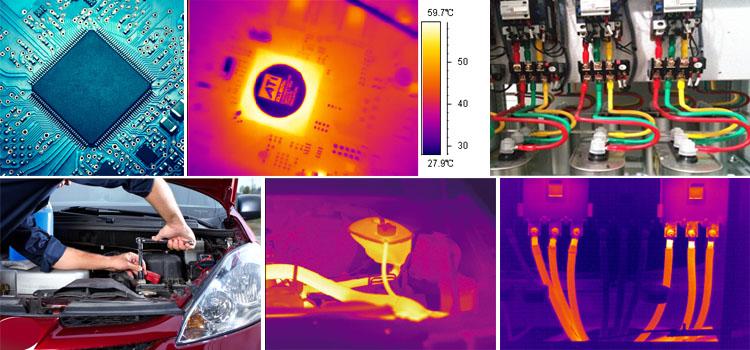 Pas cher caméra thermique infrarouge prix CE d'imagerie thermique portable