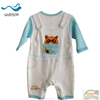 hot sell mock up strap long sleeve cotton baby clothes 2016