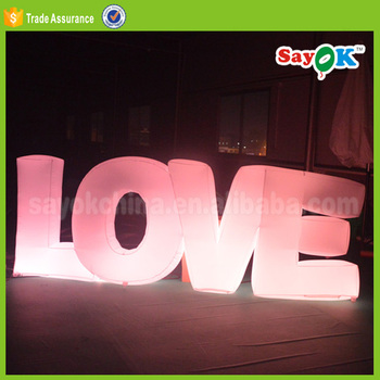 Photography Props Inflatable Led Love Letter Wedding Stage