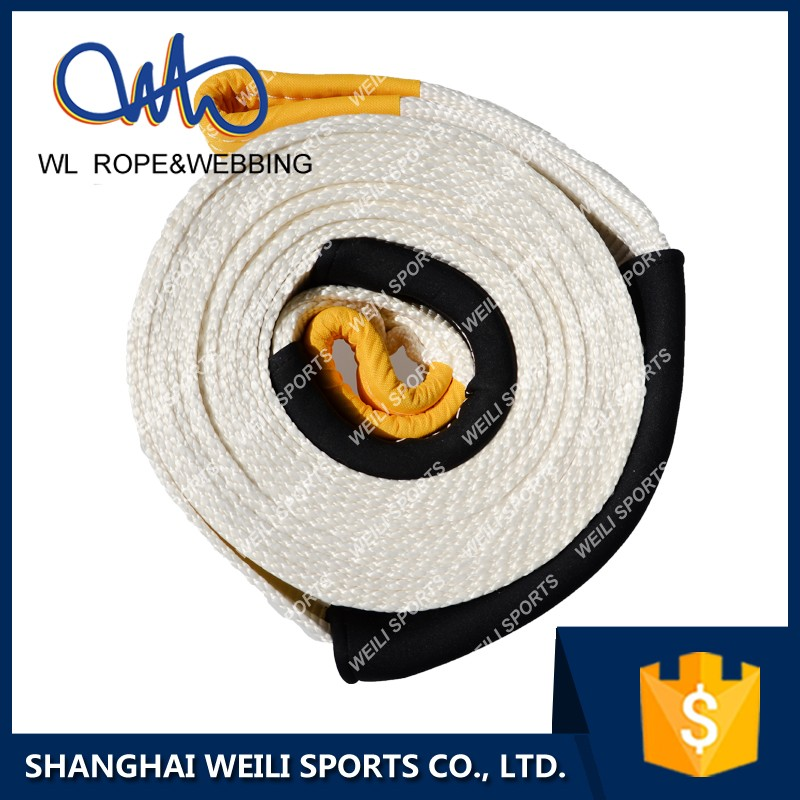 (WL STRAP) best price white color snatch tow strap for 4x4 vehicle recovery