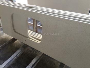 Pre Cut Quartz Countertop White And Kitchen Sink