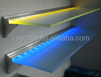 glass shelf lighting. 600mm Length RGB Shelf With Led Lights Glass Decoration Lighting