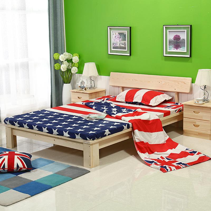 SC0393 Amerikanische Schlafzimmer Möbel Massivem Kiefernholz Bett
